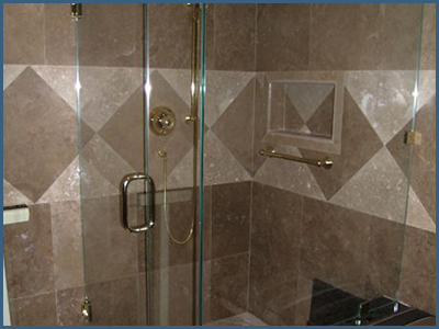 Frameless Shower Door with Pull Handles