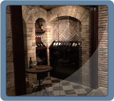 Glass Door to Wine Cellar